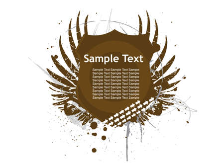 Abstract decoration label with grunge samle text Vector