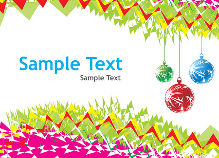 Abstract wave background with Christmas toys. Vector illustration Vector