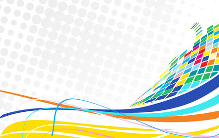 Résumé mosaïque avec les couleurs de fond en demi-onde