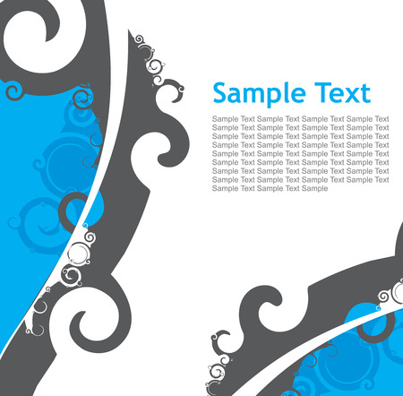 Abstract line swirl background. Vector illustration. Vector