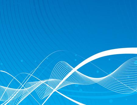 message vector: abstracto l�nea de fondo, con fondo azul