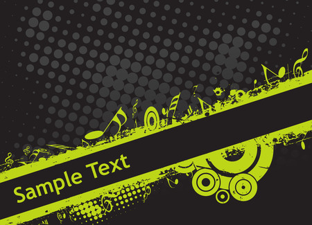 grunge halftone Background musical theme  Vector