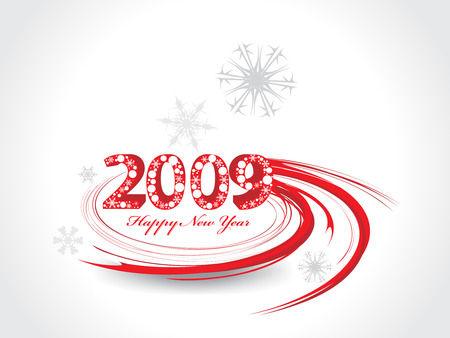 2009 swing wave element for design - New Year background Vector