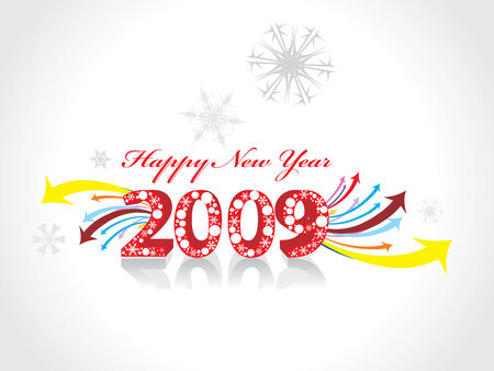 2009 wave arrow element for design - New Year background Vector