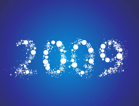 2009 grunge new year composition.Vector illustration Vector