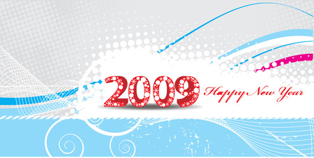 2009 new year composition.Vector illustration   Vector