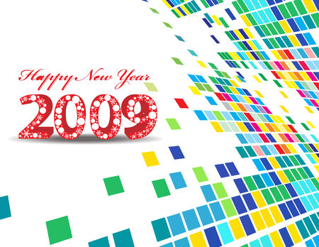 2009 wave element for design - New Year background Vector