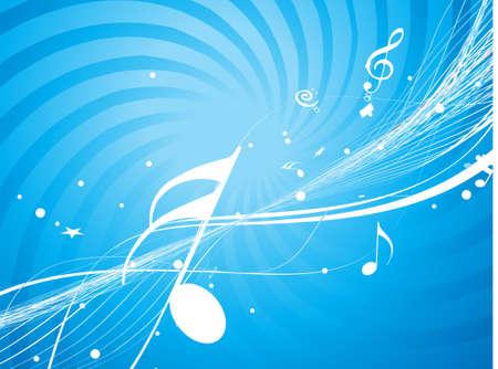 concerto: Ola musical l�nea de notas musicales Vectores