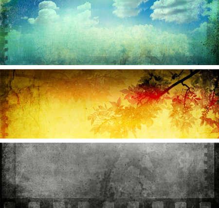 three different Creative design background Stock Photo - 4771137
