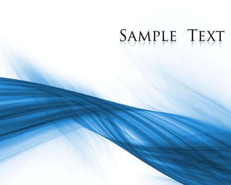 sample text: composici�n abstracta azul con texto de ejemplo Foto de archivo
