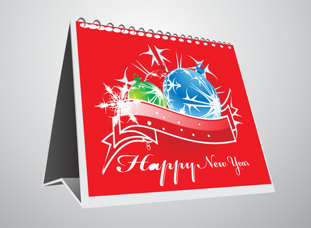 vector 3d note pade for design -Christmas background Vector