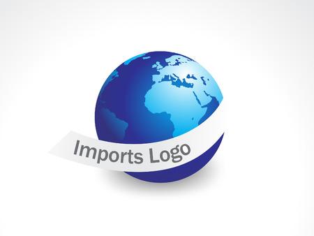 Bank Światowy:  przywóz logo Ilustracja