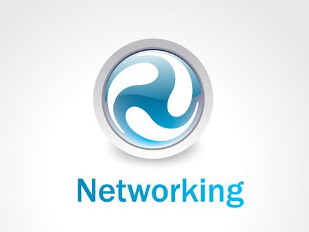 global networking: Logotipo de la creaci�n de redes