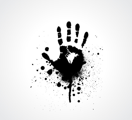 crimes: splashed Vector hand prints