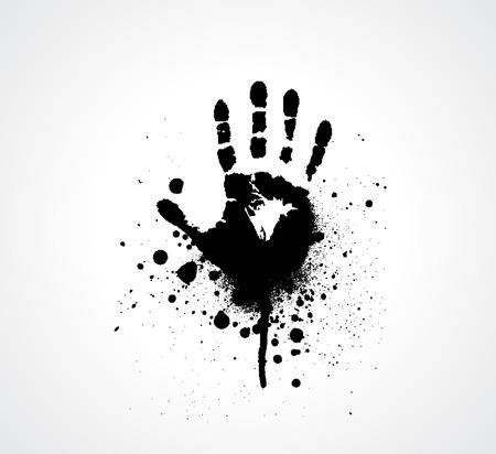 splashed Vector hand prints