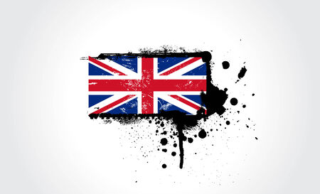 British flag with exact dimensions and colours Vector