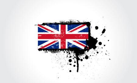 brytanii: British flag z dokładnych wymiarów i kolorów Ilustracja
