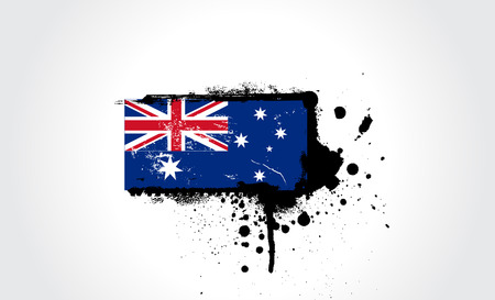 australia flag with exact dimensions and colours Vector