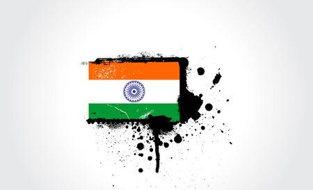 Vector - India Grunge flag Vector