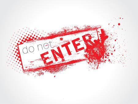 Do not Enter Grunge Text Stock Vector - 4797978