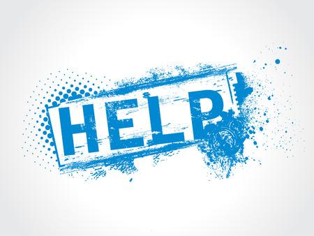 help grunge text Vector