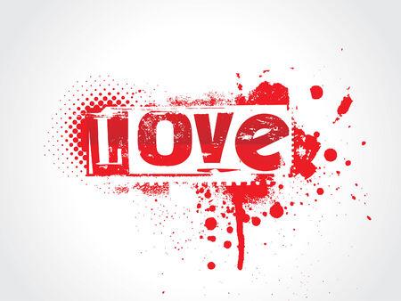 carta de amor: Texto amor Grunge Vectores