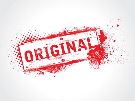 vector ornaments: Original Grunge Text