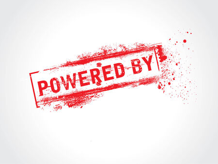 Powered By grunge text Vector