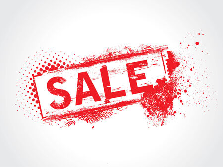 Sale Grunge Text Vector