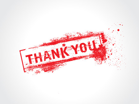 thanx: thank you - grunge text vector