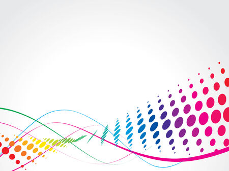 wave halftone background vector illustration Vector