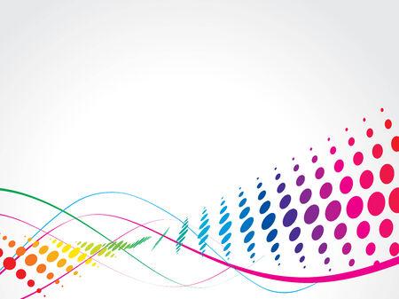 vector waves: wave halftone background vector illustration Illustration