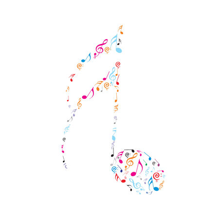 Abstract olour music notes Stock Vector - 5015239