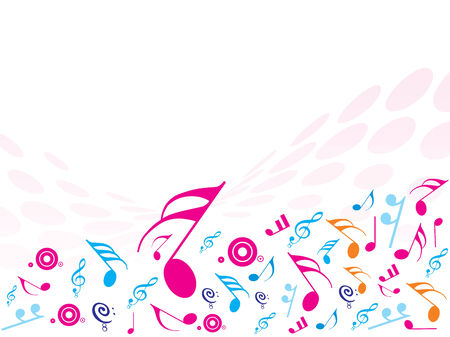 transcribe: Vector illustration of Musical Notes. ideal for background!