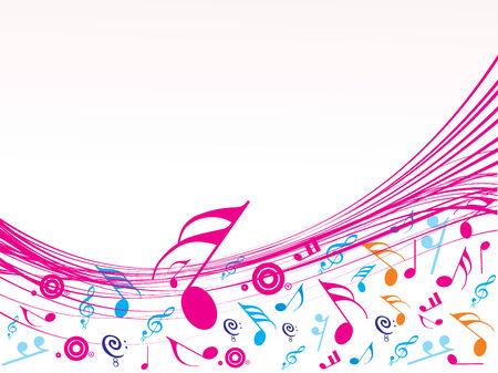歌: 音符の音楽的な波  イラスト・ベクター素材