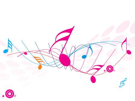 sheetmusic: Musical wave of musical notes