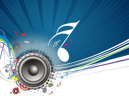 Music notes background with halftone background photo