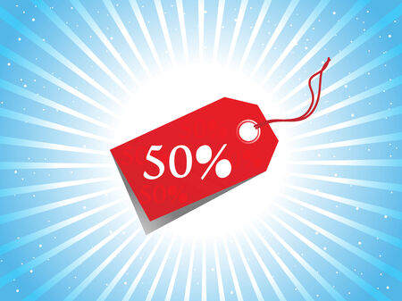 A Vector - sale tag with discount and background