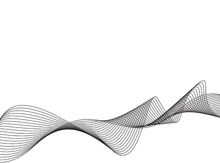 vector waves: abstract Line art background, stylized waves