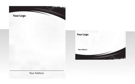 papeleria: Conjunto de art�culos de papeler�a empresarial.  Vectores
