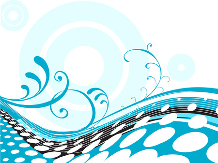 half tone: Floral half tone background, vector illustration Illustration