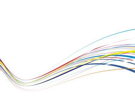 This is a rainbow wave line background Stock Vector - 5023649