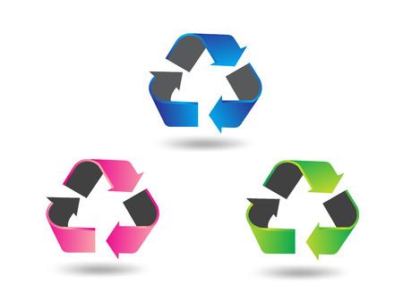 dispose: 3D recycle symbol