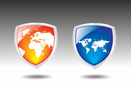 This is a world map Shield vector  Stock Vector - 5023748