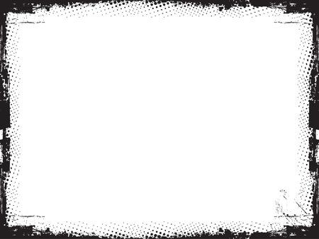 burnt edges: Grunge border - vector