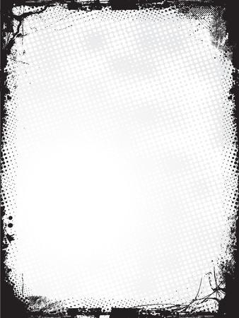 unclean: Grunge border - vector
