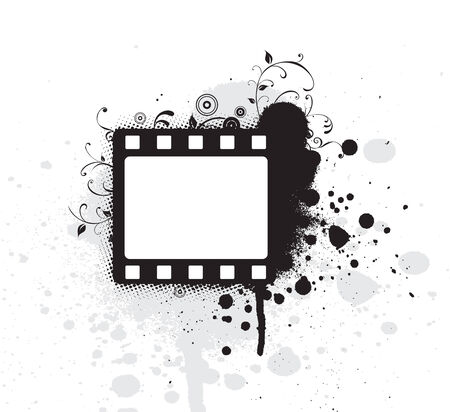 oldies: Editable vector grunge film frame , nice element for your projects Illustration