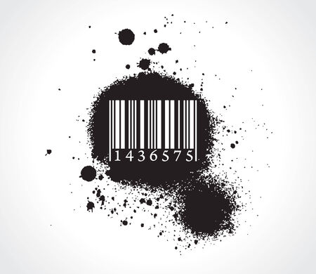 barcode scan: grunge bar-code Illustration