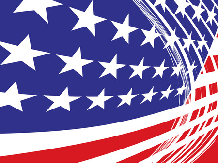 president of usa: USA flag in style Illustration