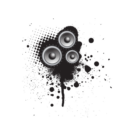 Grunge Party Speaker Stock Vector - 5023838